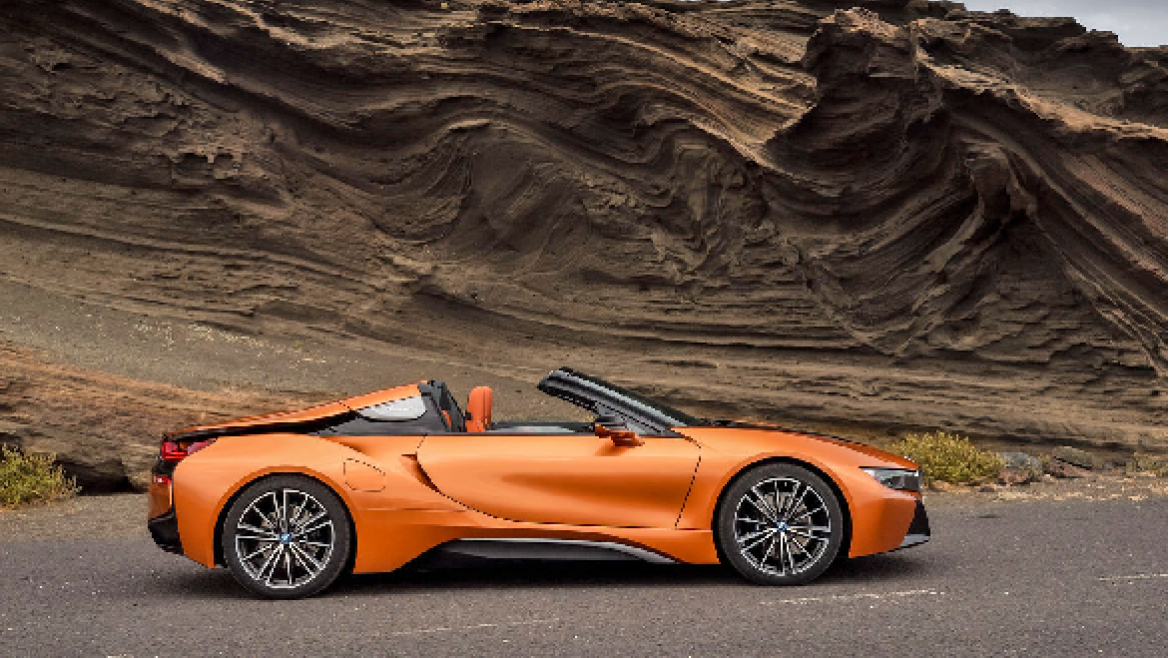 The BMW i8 Roadster.